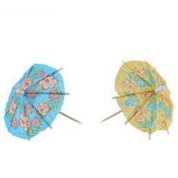 Wholesale Bamboo Cocktail - Wholesale-2016 Free Shipping 24pcs Lot Umbrella Picks Paper Cocktail Parasol Picks Party Sticks, Color Mixed HG02771 S03