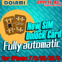 Wholesale Gpp Chip Iphone - NEWest GPP LTE 4G+ Neter Air black chip powerful Unlock Sim iPhone 7 6S 6 5S 5 Plus + LTE iOS10 RSIM11 GPP Unlocking Sim GPPLTE 4G PRO PLUS
