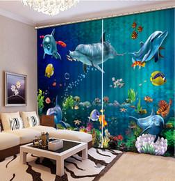 Wholesale Modern Window Blinds - Luxury European Modern ocean dolphin fashion decor home decoration for bedroom