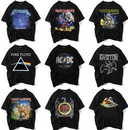 Wholesale Rock T Shirts Xxl - FEAR OF GOD Male Casual Tops Loose Cotton T-shirts Mens Tshirts Rock Band Hiphop Tees Short Sleeve O-Neck 3D Teeshirts Plus Size S-XXL NEW