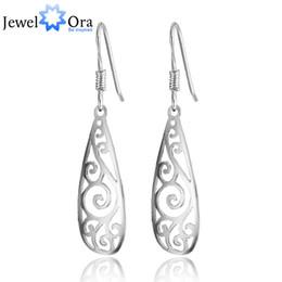 Wholesale Filigree Dangle Earrings - Vintage Silver Long Earrings Filigree Teardrop Fashion Jewelry Drop Earrings For Women ( EA101466) 17401