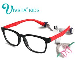 Wholesale Glasses Frames For Kids - IVSTA with Strap 46-16 Kids Glasses for Children Eyeglasses Flexible TR90 Silicone Girls Optical Frames for Boys Soft OP8139