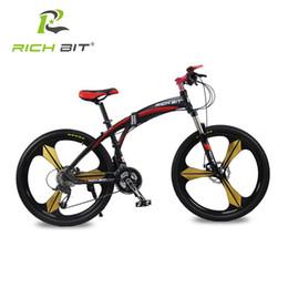 Bicicletas de corrida de alumínio on-line-Richbit Alta Qualidade De Alumínio Dobrável Bicicleta 27 velocidades Mountain Bike Freios Duplos de Velocidade Variável Bicicleta de Corrida de Bicicleta de Estrada