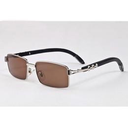 Espejo enmarcado de bambú online-Vintage Buffalo Horn gafas de sol 2017 hombres gafas de sol de bambú mujeres diseño de la marca espejo polarizado marco de madera gafas de sol oculos