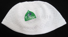 Wholesale Headscarves Turbans - Wholesale-mix S,M,L islamic hijabadult turban headscarf Arab men cap wrap weaving white Muslim men Hat