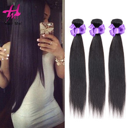 Wholesale Brazil Remy Hair - HairMe! New Design Straight Hair Natural Color Unprocessed Brazil Remy Virgin Human Hair Extension Free Shipping