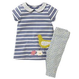 Canada Filles Ensemble avec Appliques Animal Dress Leggings 2017 Marque Coton Enfants Vêtements Enfants Été Vêtements Ensembles Baby Girl Outfit Offre