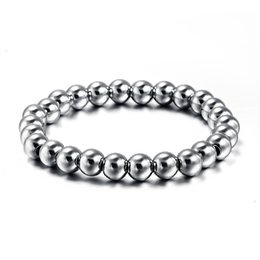 Wholesale Toggle Ball - Never fade stainless steel bracelet bangle for men and women unisex bead ball jewelry BR-008S