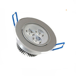 Wholesale Led Downlights Wholesale - LED Recessed Ceiling 9W led Downlights warm wihte cool wihte AC 85-265V Indoor lighting With LED Driver