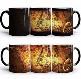 Wholesale Heat Maps - Harry Potter mugs Marauders Map mug mischief managed mug morphing coffee mugs novelty heat changing color transforming Tea Cups