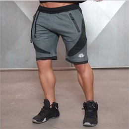 Wholesale Men S Boy Shorts Low - Wholesale- 2017 Summer Men Shorts Skinny Gymclothing Shorts Male Clothing Bottoms Jogger Casual Knee Length Boys Shorts Trousers