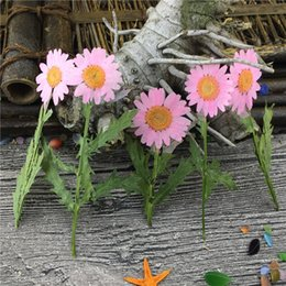 Wholesale Wholesale Crystal Stems - Pink Crystal Chrysanthemum with Stem For Manual Flower Material DIY Epoxy Specimens 100Pcs