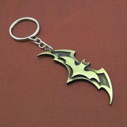 Wholesale Wholesale Metal Trinket - Superhero Batman Keychain Men Trinket Super Hero Marvel Car Key Chain Chaveiro Key Ring Holder Jewelry Gift Souvenirs
