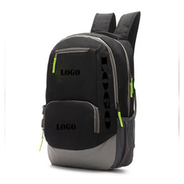 Wholesale Logo Sport Racing - Fashion Rucksacks Sports bag School Backpack Men and women bags Large travel bag Basketball Bag LOGO P3817