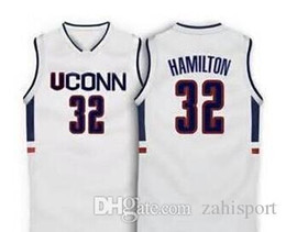 Wholesale Uconn Basketball - 32 Richard Hamilton UConn Connecticut College Basketball Jersey reminiscent any customized size stitched name and number