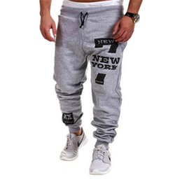 Wholesale Slim Fit Loose Sweatpants - Wholesale- 2017 Fashion Outdoors Cargo Loose Trousers Men Sweat Leisure Joggers Pants Slim Fit Sweatpants for Dance Leisure Pants
