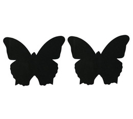 Wholesale Black Tits - black & skin color butterfly shape Safety environmental protection nipple covers sexy nipple sticker T- Tit tape 1 time use