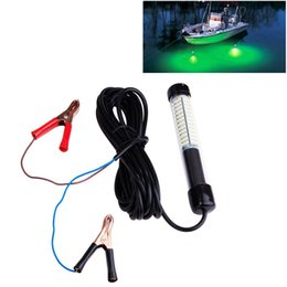 Wholesale Underwater Flash Lights - 8W Fishing Attracting Equipment LED Green Underwater Squid Fishing Light Lure Submersible Boat Light Night Fishing Tackle