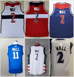Wholesale Kentucky Jersey - 2017 New 2 John Wall White Red Jersey Men Throwback 11 Kentucky Wildcats College Blue Jerseys Vintage Stitched Navy Blue Size S-3XL