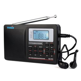Wholesale Pc Tv Receiver - Wholesale-2 pcs Full Band Radio FM Stereo MW  SW DSP TV Sound World Band Receiver with Timing Alarm Clock Portable Radio F9201