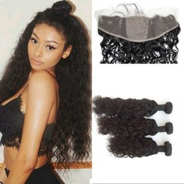Wholesale Virgin Indian Hair Base Closures - Natural Wave Silk Base Frontal with Bundles Indian Virgin Hair with Closure 13*4 Silk Frontal with Hidden Knots FDSHINE HAIR