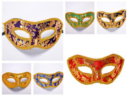 Wholesale Christmas Flat Back Resins - New arrival Jazz Halloween Flannel Cloth Mask with a flat head half face mask with a props PH031 mix order as your needs