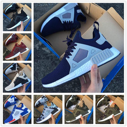 Wholesale Skull Shoes Flats - New NMD XR1 Blue White Captain America Sneakers Women Men Running Shoes High Quality NMD XR1 Pk Camo Mastermind Japan Fall Skull Olive Shoes