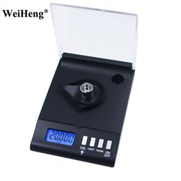 Wholesale Reloading Scales - DHL 20PCS Precision Electronic Scale 0.001g X 30g Pocket Balance Weighing Libra steelyard for Reloading Gram Grain Herb Lab Jewelry