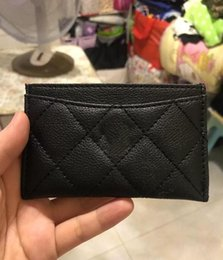 Wholesale NEW classic C fashion Mini Wallet with holder famous logo black PU bag card holder Coin bag Luxury VIP gift