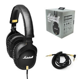 Wholesale Rock Earphones - Marshall MONITOR Headphones Noise Cancelling Headset Deep Bass Studio Monitor Rock DJ Hi-Fi Guitar Rock headphone Earphone with mic