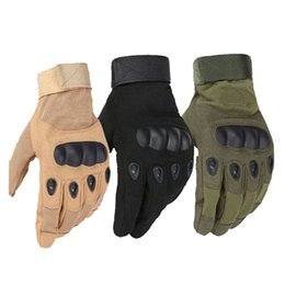 Wholesale Military Army Combat - Us Military Tactical Gloves Outdoor Sports Army Full Finger Combat Motocycle Slip-resistant Carbon Fiber Tortoise Shell Gloves G288