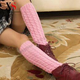Wholesale Wool Knit Socks For Sale - Wholesale- Hot Sale New Fashion Ladies Heated Leg Warmers For Winter Casual Knitting Wool Boot Cuffs Acrylic 2016