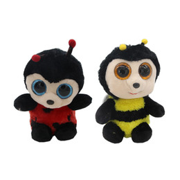"Wholesale Bee Plush Toy - 3 Style Ty Beanie Boos Big Eyes 6"" Kawaii Bee Plush Animal Toys"