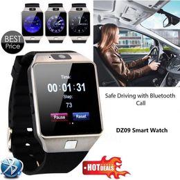 Wholesale Silicon Kids Wrist Watches - SmartWatch DZ09 U8 Android Camera Record Sainless steel Smart watch SIM GPS Wifi digital electronic wristwatch Silicon relogio inteligente