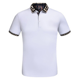 Wholesale High Quality Polo Shirts Men - Summer new design Luxury Brand mens polo Summer Fashion Short Sleeve Embroidery polo shirt High quality with tags M-3XL