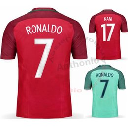 Wholesale Soccer Jersey Portugal - MEN PORTUGAL RONALDO NANI MOUTINHO RUI COSTA FIGO soccer jersey camisetas futbol thai thailand quality football jerseys SOCCER UNIFORMS SETS
