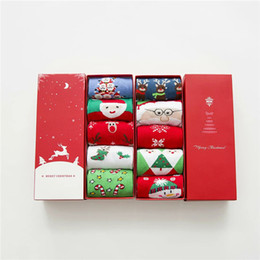 Wholesale Christmas Soccer Socks -  2017 New high quality women red sox cotton Christmas stocking gift box Xmas stocking Christmas decorative socks gift free size DHL M918