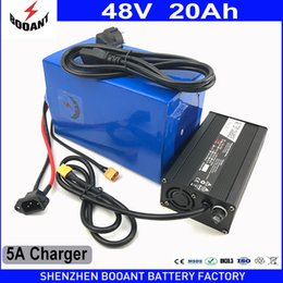 Wholesale electric scooter battery charger 48v - BOOANT Electric Bicycle Battery 48v 20Ah 1080w with 5A Charger 30A BMS Scooter Lithium Battery Pack 48v EU US Free Customs