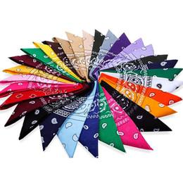 Wholesale Hot Head Scarf - Wholesale-Hot Selling Hip-Hop Cotton Bandanas Head Scarves For Male Female Unisex Multi Colour Headscarf High Quality