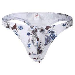 Wholesale Mens T String Thong L - Male Bikini Thong Panties Bikini Men Underwear Mens Sexy Cotton Plaid Floral G-string Thong Underwear T-back Gay Thong