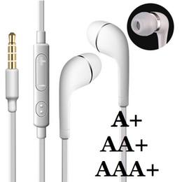 auriculares de alta calidad mic Rebajas Alta calidad en la oreja los auriculares estéreo de 3,5 mm para auriculares con micrófono Control remoto de volumen auriculares para samsung galaxy s3 s4 s6 nota 2 4 mp3