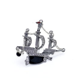 Wholesale Drip Needle - 2015 Foreign Trade Ornaments The Sails Brooch Men And Women General Purpose Oil Dripping Style Lead Needle Clothes And Ornaments Collocation