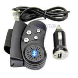 Wholesale mini steering wheel - Wholesale-A31 New Arrive Black 2.4GHz Car Mini Steering Wheel Bluetooth Handsfree Vehicle Kit