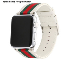 Wholesale High Watches - Canvas Genuine Leather bands for apple watch strap , high hygroscopicity with Buckle Connector For Apple Watch Apple Watch Series 1