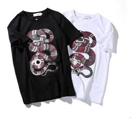 Wholesale Mens Tie Dyed T Shirts - GMANCL 2017 Retro Mens Tie Dye Men T Shirt Fear of god Hi-Street Hip Hop Rock T-Shirts Men Harajuku Streetwear Snake Casual Tees