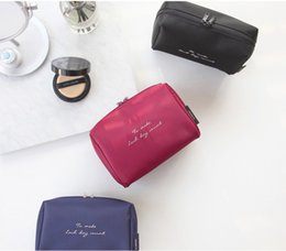 Wholesale Light Large - New Simple solid nylon cosmetic bag multi-functional travel contractor large capacity Waterproof double Wash Bag wet and dry separating bag