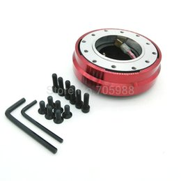 Wholesale Quick Release Steering Hubs - Aluminum 6-HOLE RED CAR THIN SLIM VERSION STEERING WHEEL QUICK RELEASE HUB KIT ADAPTER