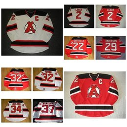 Wholesale Harry Kid - Mens Womens Kids AHL Albany Devils 2 Jay Leach 32 Harry Young 100% Embroidery Custom Any Name Any No. Hot Sale Ice Hockey Jerseys Goalit Cut