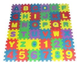 Canada Vente en gros - 36pcs / set EVA Jigsaw mousse puzzle tapis de jeu 66 * 66cm, jouets pour enfants l'apprentissage et l'éducation bébé jouant tapis en mousse goma eva supplier play mat wholesale Offre