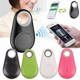 Cercatore di allarme portachiavi online-(1 pz) Smart Tag Wireless Bluetooth Tracker Portafoglio bambino Chiave Portachiavi Finder Localizzatore GPS Anti Allarme perso Itag Sensore di allarme